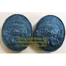 Phra Rahu (black), LP Keow, Wat Sampan Maiken