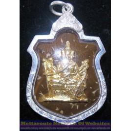 Phra Phrom (四面佛) LP Chamnan, gold face mask